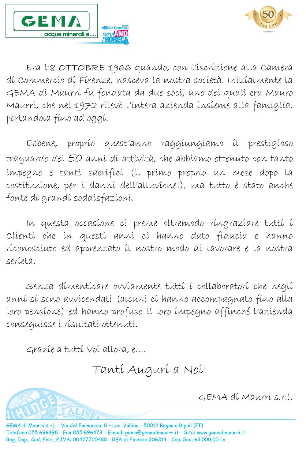Distribuzione bevande - Gema di Maurri Srl - Firenze